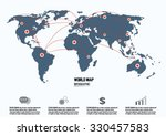 world map and connection | Shutterstock .eps vector #330457583