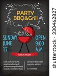 barbecue party poster design... | Shutterstock .eps vector #330462827