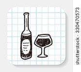wine bottle doodle | Shutterstock . vector #330470573