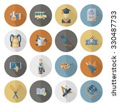 school and education icon set.... | Shutterstock . vector #330487733