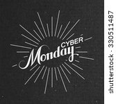 cyber monday sale label on the... | Shutterstock .eps vector #330511487