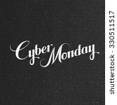 cyber monday sale label on the... | Shutterstock .eps vector #330511517