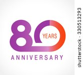 80 years old celebrating... | Shutterstock .eps vector #330513293