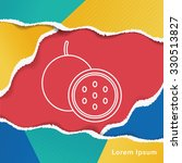 passion fruit line icon | Shutterstock .eps vector #330513827