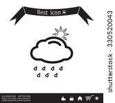 rain cloud sun icon | Shutterstock .eps vector #330520043