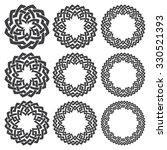 set of round frames. nine... | Shutterstock .eps vector #330521393