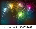firework background. vector | Shutterstock .eps vector #330539447