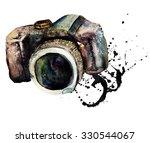 watercolour camera    Shutterstock . vector #330544067