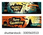 happy halloween. halloween... | Shutterstock .eps vector #330563513