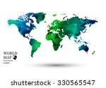 polygonal world map vector. | Shutterstock .eps vector #330565547