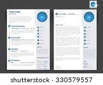 professional cv  resume... | Shutterstock .eps vector #330579557