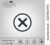 delete icon. cross sign in... | Shutterstock .eps vector #330581993