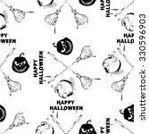 happy halloween wallpaper. ... | Shutterstock . vector #330596903