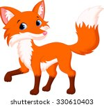 cute fox cartoon | Shutterstock .eps vector #330610403