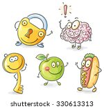 set of objects as cartoon... | Shutterstock .eps vector #330613313