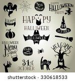 set of calligraphic designs... | Shutterstock .eps vector #330618533
