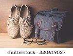 still life bag with shoe and... | Shutterstock . vector #330619037