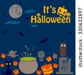 happy halloween holiday... | Shutterstock .eps vector #330632897