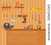 Vector Banner Of Tool Shed Wit...