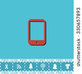 modern digital tablet pc. red...