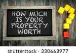 how much is your property worth ... | Shutterstock . vector #330663977