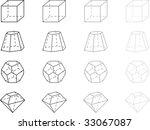 gray geometry figures | Shutterstock .eps vector #33067087