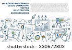 flat style  thin line art... | Shutterstock .eps vector #330672803