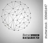3d geometric vector sphere... | Shutterstock .eps vector #330681647