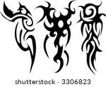 black tribal | Shutterstock .eps vector #3306823