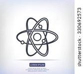 atom sign vector icon | Shutterstock .eps vector #330692573