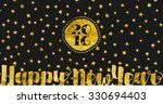 happy new year   greeting card...   Shutterstock .eps vector #330694403