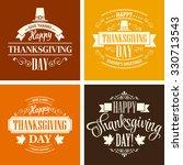 typographic thanksgiving design ... | Shutterstock . vector #330713543