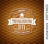 thanksgiving typography... | Shutterstock . vector #330714623