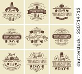 typographic thanksgiving design ... | Shutterstock . vector #330714713