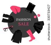 round banner sales women's...   Shutterstock .eps vector #330733427