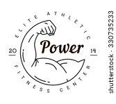 a symbol of strength. logo for... | Shutterstock .eps vector #330735233