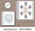 halloween background template... | Shutterstock .eps vector #330744863
