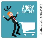 angry customer illustration... | Shutterstock .eps vector #330746357