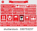 packaging or fragile stickers ... | Shutterstock .eps vector #330753257