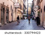 rome   june 25  street in city... | Shutterstock . vector #330794423