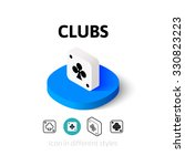 clubs icon  vector symbol in...
