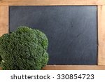 the fresh broccoli put on the...   Shutterstock . vector #330854723