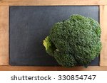 the fresh broccoli put on the...   Shutterstock . vector #330854747