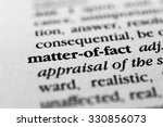 Small photo of Matter-of-fact
