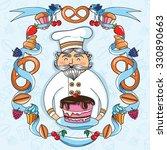 illustration of a baker   Shutterstock .eps vector #330890663
