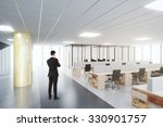 businessman in open space... | Shutterstock . vector #330901757