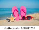 the sea  beach  sand and women... | Shutterstock . vector #330905753