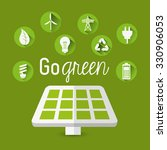 go green concept with eco icons ... | Shutterstock .eps vector #330906053