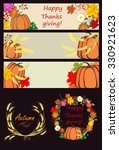 autumnal banners and design... | Shutterstock .eps vector #330921623