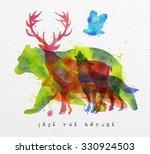 Color Animals  Bear  Deer  Wol...